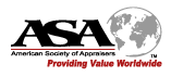 American Society of Appraisers logo.